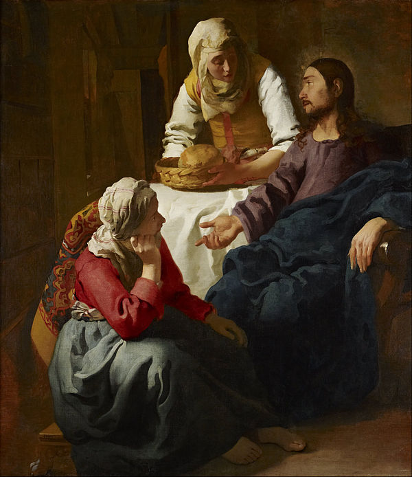 Christ in the House of Mary and Martha by Johannes Vermeer