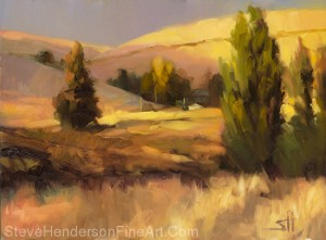Homeland 1 inspirational original oil painting of rural country meadow and field by Steve Henderson licensed wall art home decor prints at framed canvas art, icanvas, great big canvas, amazon.com, art.com, and allposters.com