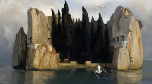 "Just because something looks ""spiritual"" doesn't mean that it is good, and right, and true. Isle of the Dead by Arnold Bocklin, third version, 1883"