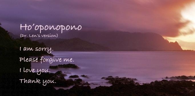 Hooponopono prayer for forgiveness