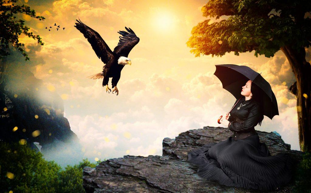 https://www.maxpixel.net/Eagle-Spirit-Girl-Female-Nature-Wild-Black-2477168
