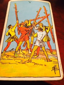 """""""five of wands"""""""