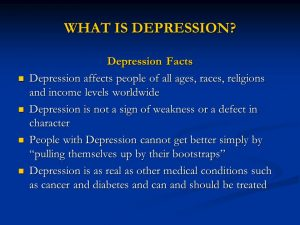WHAT+IS+DEPRESSION+Depression+Facts