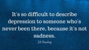 depression is not sadness | Terezia Farkas | depression help | Beliefnet