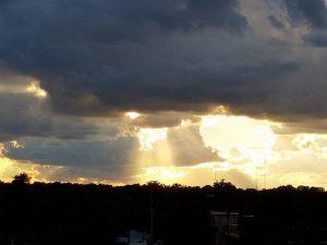 sunlight thru clouds