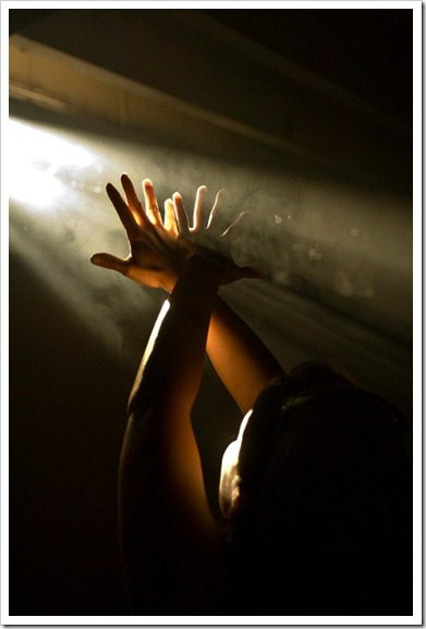 light and hands
