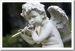angel with flute
