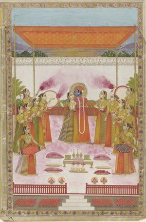 Holi_Festival Krishna_Radha_and_Gopis