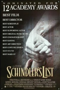 schindlers list film poster