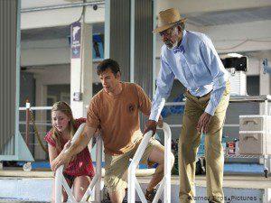 Harry Connick Jr., Morgan Freeman, and Cozi Zuehlsdorff.