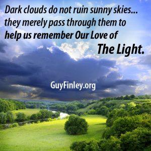 landscape, light through dark clouds
