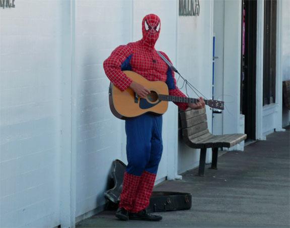 Spider-Man Playing Guitar