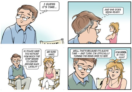 ... and informally deeded the strip to a new generation of characters.