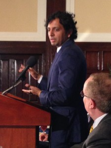 M. Knight Shyamalan at the National Press Club