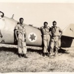 Pilots Lou Lenart, Gideon Lichtman, and Modi Alon in Israel in 1948. Copyright Paramount Productions 2015