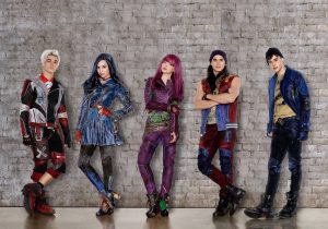 "DESCENDANTS 2 - Disney Channel's original movie ""Descendants 2"" stars Cameron Boyce as Carlos, Sofia Carson as Evie, Dove Cameron as Mal, Booboo Stewart as Jay and Mitchell Hope as Ben. (Disney Channel/Bob D'Amico/Craig Sjodin)"